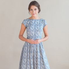 A personal favorite from my Etsy shop https://www.etsy.com/uk/listing/251848141/blue-floral-dress