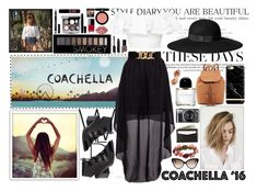 """Coachella!"" by angelstylee ❤ liked on Polyvore featuring Armani Beauty, H&M, 275 Central, Forever 21, Alexander McQueen, Yves Saint Laurent, Chanel, Bobbi Brown Cosmetics, NYX and Lime Crime"