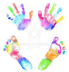 Baby Multicolor handprint and footprint