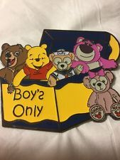 Disney Pin Fantasy LE 50 Bears Boys Only Toy Chest Lotso Winnie Pooh Duffy