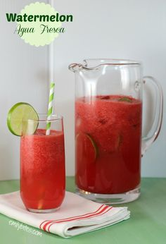 Watermelon Agua Fresca - light and refreshing for just 72 calories or 1 Weight Watchers SmartPoints!
