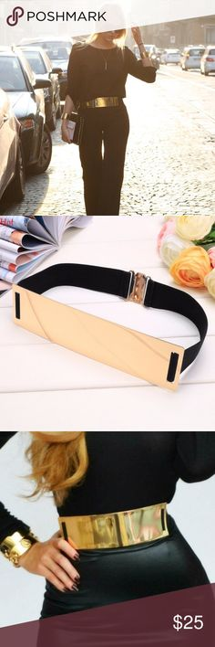 ✨Gold Belt✨ Brand new still in packaging! Has an elastic waist band to fit every size! Accessories Belts