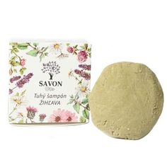 Přírodní tuhý šampon Kopřiva 60 g - papírová krabička Savon - Krásná Každý Den Plates, Tableware, Soap, Licence Plates, Dishes, Dinnerware, Griddles, Tablewares, Dish