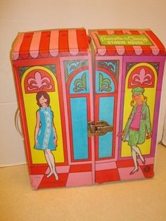 Vintage 1966 Mattel Barbie 1026 Francie & Casey Studio House Folding Carry Case #Accessories