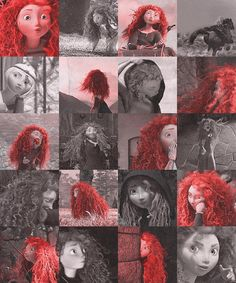 The many faces of Princess Merida. not my favorite princess, but her hair is legit! Disney And Dreamworks, Disney Pixar, Merida Disney, Brave Merida, Disney Icons, Disney Films, Nickelodeon Cartoons, Disney Cartoons, Brave 2012