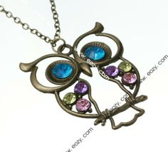 66 cm Sweater Chain Necklace Jewelry Owl Shape Coppery