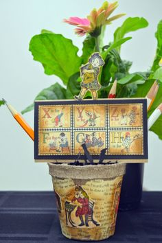 Lynda of Lakeland: Birthday Peat Pots