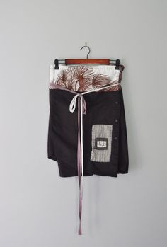 Upcycled Boho Wrap Skirt in Chocolate and by RebirthRecycling, $55.00
