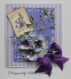Selma's Stamping Corner: Violets and Leaf Tutorial