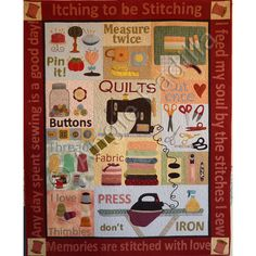 We love this Itching to be Stitching quilt! Get the pattern here: http://www.craftsy.com/pattern/quilting/home-decor/itching-to-be-stitching/17457