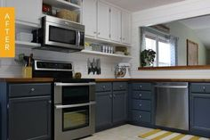 Before & After: An Outdated Peach Kitchen Enters the 21st Century — Kitchen Renovations