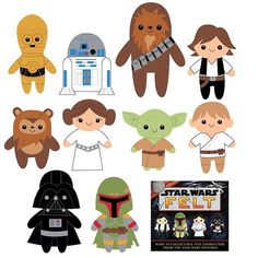 I had to share these illustrations I created for the Star Wars Felt kit, I like them almost as much as the finished felt characters.  Find my kit on Amazon and Barnes and Noble! #starwars #starwarsfelt #starwarscrafts #sewingpatterns #handmade #starwarsplush #craftpattern #felt #feltcraft