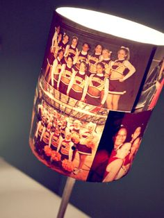The cutest DIY lamp ever! Would be cute with baby pics or pics of a couples journey together <3