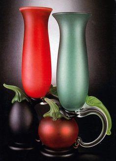 robert levin glass | Robert Levin | Glass Fruit Goblets