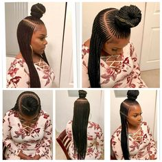 I saw these on facebook, KET braids is what they are called. The braider did a beautiful job, I give her props.