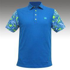 cb3d1d1f5 Mens Golfing Shirts   Polos by Loudmouth Golf - Fancy Splash Blue. Buy it    ReadyGolf.com