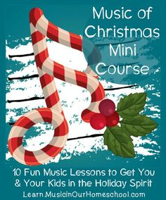 The Music of Christmas mini-course was written with busy homeschool moms in mind. Experience ten music lessons about Christmas songs and music. Online Music Lessons, Music Lessons For Kids, Music Lesson Plans, Music For Kids, Preschool Music, Teaching Music, Teaching Kids, Learning Piano, Music Courses