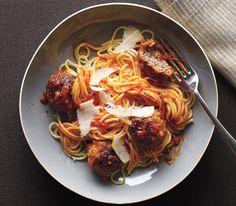 Spaghetti With Bacon Meatballs
