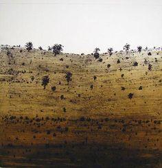 © Ian Grant ~ Escarpment ~ 2008 etching at Tim Olsen Gallery Sydney Australia