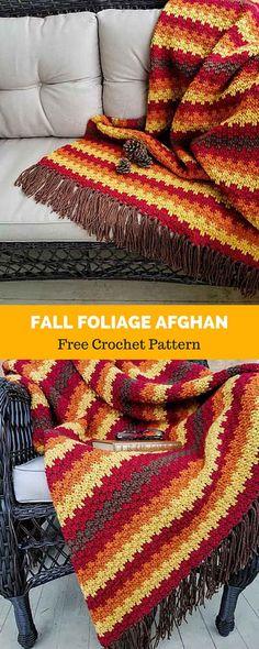 Crochet Fall, Holiday Crochet, Halloween Crochet, Unique Crochet, Modern Crochet, Free Crochet, Crochet Afgans, Crochet Quilt, Crochet Blankets