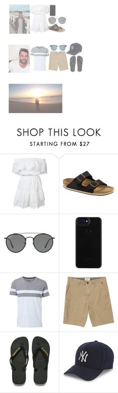 """""""Last sunset in port for a while..."""" by coco-james ❤ liked on Polyvore featuring LoveShackFancy, Birkenstock, Ray-Ban, Witchery, Billabong, Havaianas, New Era and Yves Saint Laurent"""