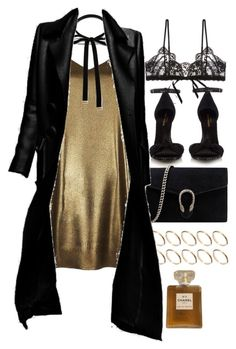 """""""Untitled #9824"""" by nikka-phillips ❤ liked on Polyvore featuring River Island, ASOS, Yves Saint Laurent, Forever 21, Gucci, Chanel and Hanky Panky"""