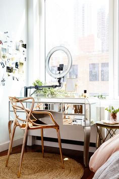"""You can still live large in a small space! From """"floating"""" your couch to distinguish a proper living area to doubling up on your cabinet storage to reduce clutter, these tricks will make you feel at home without feeling claustrophobic."""