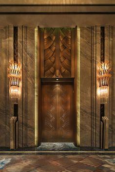 hotel door Unique designs created for you. Hotel d - hotel Lift Design, Door Design, Wall Design, Design Design, House Design, Elevator Lobby Design, Hotel Lobby Design, Lobby Interior, Interior And Exterior