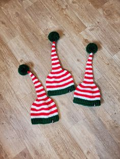 Another custom order checked off of my to-do list and delivered to its owner. Pattern: Holly Elf Hat from Ava Girl Designs Yarn: Bernat Super Value and Red Heart Super Saver Elf Hat, Super Saver, Ava, Knit Crochet, Christmas Ornaments, Holiday Decor, Heart, Pattern, Design