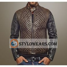 Men's Quilted Brando Leather Jacket