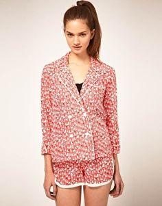 ASOS Pajama Jacket With Chair Print - StyleSays