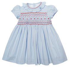 Baby Girls Traditional Spanish Style Smocked Dress Pants /& Headband Set 6-23 Mth