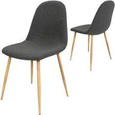 chaise 4x chaise design revtement en tissu gris fonc