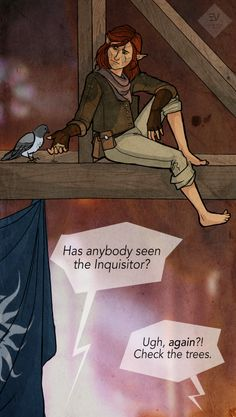 Artblog by Eef | I read a fanfic where Lavellan would just randomly disappear, among other things. It was great