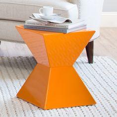 Sunpan Modern Orange Rocco End Table