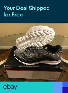 0353d99ce6863  110 NEW Saucony Kinvara 8 LR Mens Running Shoes Gray Marl Black S20363-1  NIB