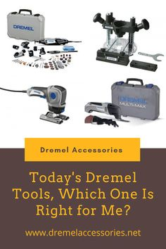 The Dremel tool that is right for you will depend on the types of projects you want to do. So, to begin the process of choosing, think about what you want to do with the tool. Dremel Accessories, Dremel Tool, Project Yourself, Tools, Projects, Log Projects, Instruments, Blue Prints, Dremel Multi Tool