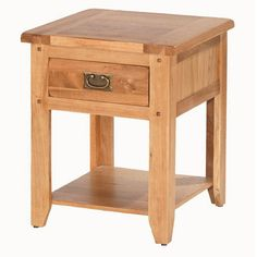 Cherbourg Oak Bedside Table