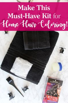 My hair has been looking awfully dull lately, so I knew it was time for a switch up and since I've been coloring my hair at home for so long, I've picked up some great tips that I'd like to share with you. I put together this super-helpful home hair coloring kit that you can make! #APassionForHair @walmart @schwarzkopfus [ad]