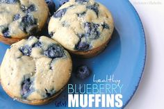 The Knoxville Holts: healthy blueberry muffins {gf,v}