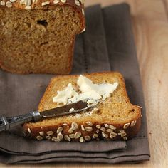 Pumpkin Wheat Bread Loaf. Vegan Recipe