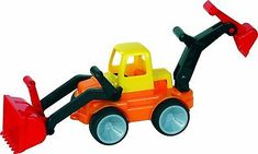 Gowi Toys 560-73 Bulldozer with Front and Back Shovel