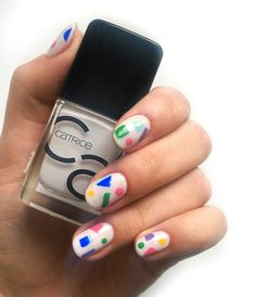 Geometric Nail Art, Photo And Video, Abstract, Nails, Instagram, Summary, Finger Nails, Ongles, Nail