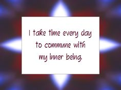 Daily Affirmation for April 11, 2013