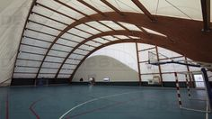 Wooden frame supported tensile structure - ArchiExpo