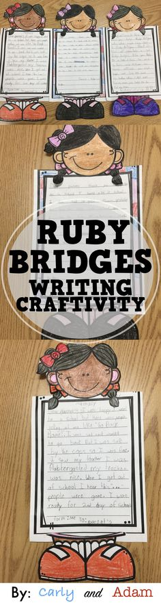 This Ruby Bridges writing craftivity is a perfect way to have students reflect on what they have learned at the end of your Ruby Bridges unit. This writing craft also makes a great hallway or classroom display for Black History Month.
