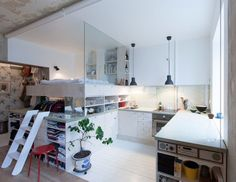 A Tiny Swedish Apartment Mixes Old and New