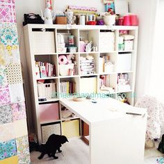 Craft Room Makeover Update | Almost the Finishing Touches The Expedit Desk in the Craft Room