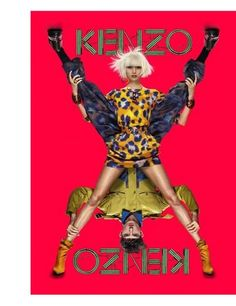 Jesther White & Ming Xi for KENZO Ad #Fashion Campaigns S/S 2013.