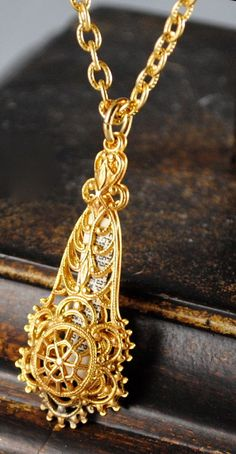 Vintage Mezuzah Filigree Necklace by ErikasCollectibles on Etsy, $32.00
